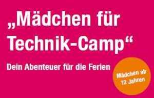 Mächen für Technik Camp