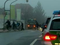 3.2.2014: Bouwfonds Refugio Pasing: Radweg blockiert