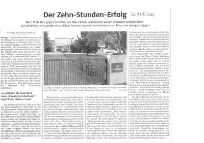 Der Zehn-Stunden-Erfolg - SZ 21.8.2014